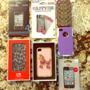 iPhone 4/4s Phone Cases with Screen Protectors